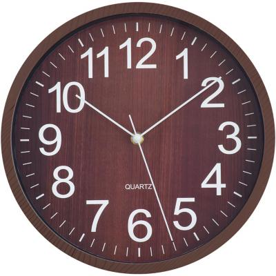 Reloj wooden 29x29cm oscuro