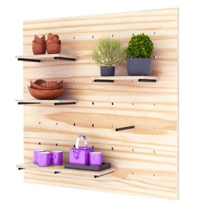 Repisa de madera panel perforado 100x100 cm