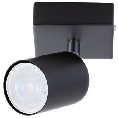 Barra 1 luz GU10 Silo negro mate