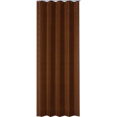 Puerta plegable mdf color marrón 120x200 cm