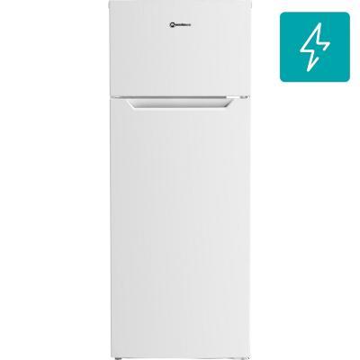 Refrigerador frío directo top mount freezer 212 litros blanco