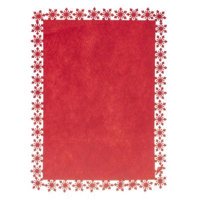 Individual 39x30xm roja copo nieve