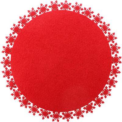 Individual tela 29 cm muñeco nieve roja