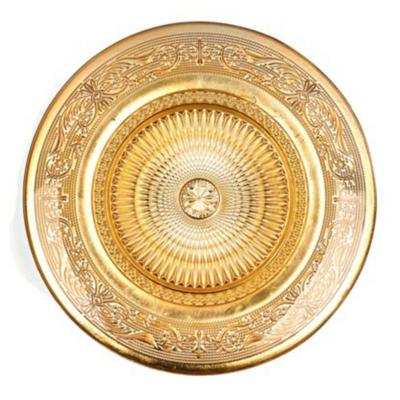 Plato 25 cm retro vidrio dorado