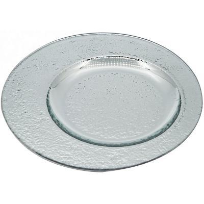 Plato 20 cm excéntrico vidrio plata