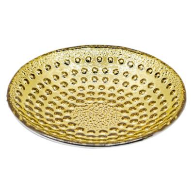 Bowl 19x19 cm vidrio dorado