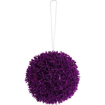 Esfera 10 cm pasto mar purpura