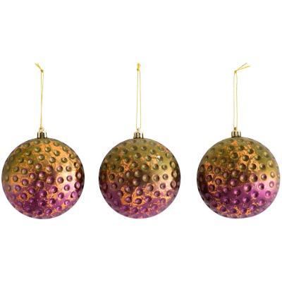 Esfera 10 cm setx3 panal purpura