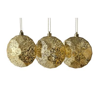 Esfera 10 cm setx3 plano dorado
