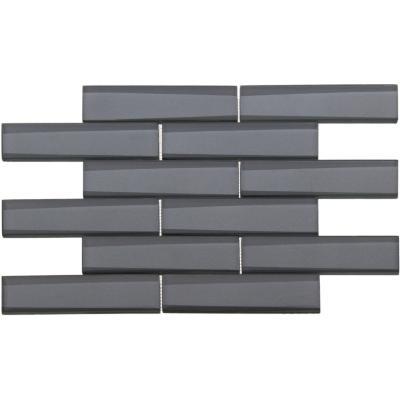Mosaico vidrio metal 31x32 plata