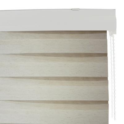 Cortina roller duo lino blanco grain 120x120 cm