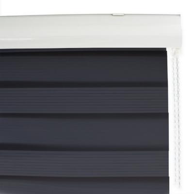 Cortina enrollable duo Lino Pepper 160 x 240 cm gris