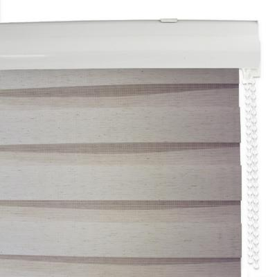 Cortina roller duo lino beige sand 120x120 cm