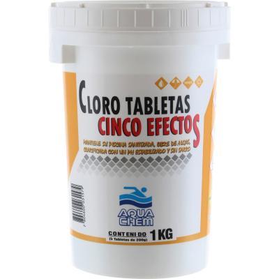 Cloro en tableta 5 efectos 1 kg
