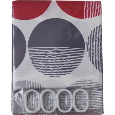 Cortina de baño Circular poliéster 180x180 cm