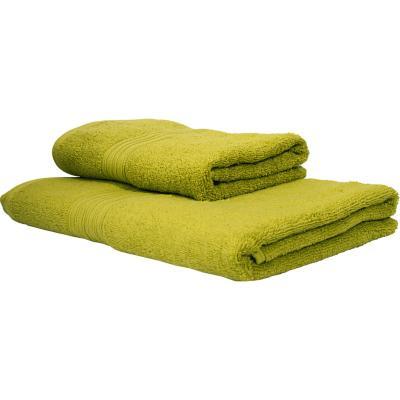 Set 2 toallas 50x80cm/70x140cm pistacho