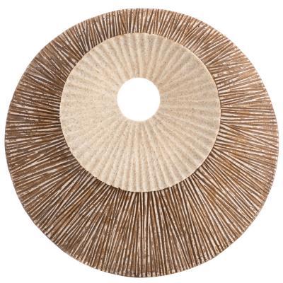 Placa redonda beige 35X5.5 cm