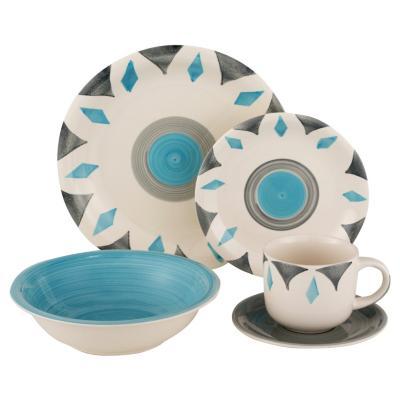 Juego de vajilla 30 piezas turquesa