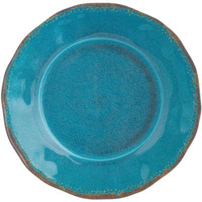 Plato llano melamina azul