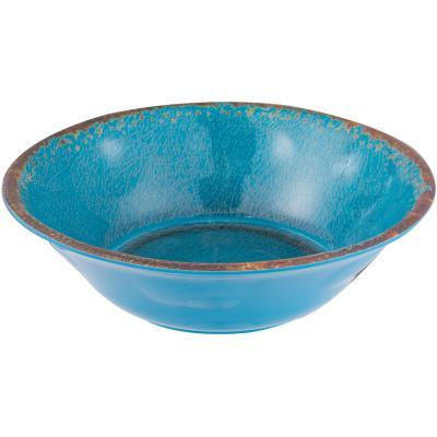 Plato sopa melamina azul
