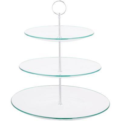 Plato vidrio cocktail  3 pisos