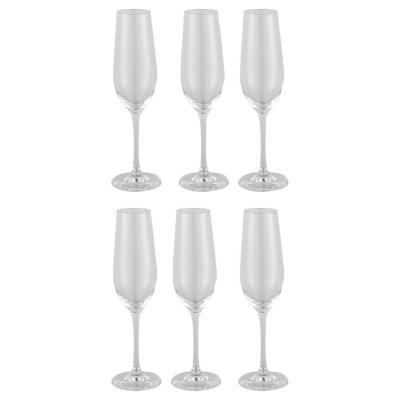 Set de 6 Copas Champaña Cristal 244 ml