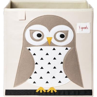 Caja para juguetes búho 45,5x43x45,5 cm