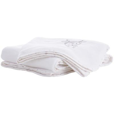 Manta osito niña blanco 120x120 cm