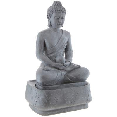 Buda en fuente 74x44 cm resina