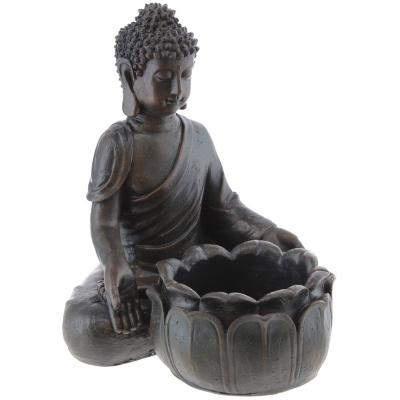 Buda con fuente 35x32 cm resina