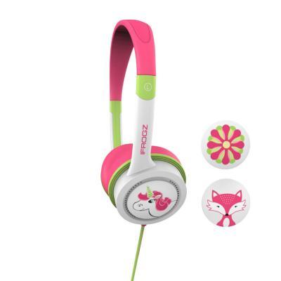Audífono on ear niños litte rockers rosado/verde
