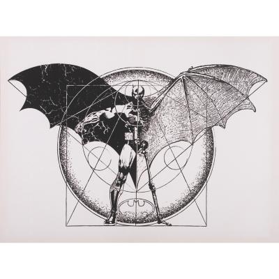 Canvas Batman Dark Arts 60x80 cm