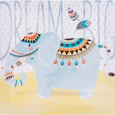 Canvas infantil elefante 28x28 cm