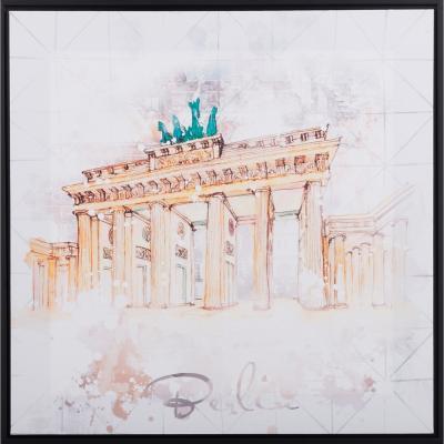 Canvas enmarcado Puerta de Brandenburgo 50x50 cm