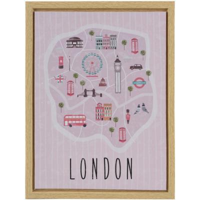 Canvas con marco London 30x40 cm
