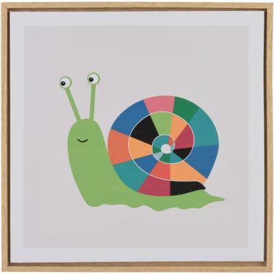 Canvas con marco caracol 35x35 cm