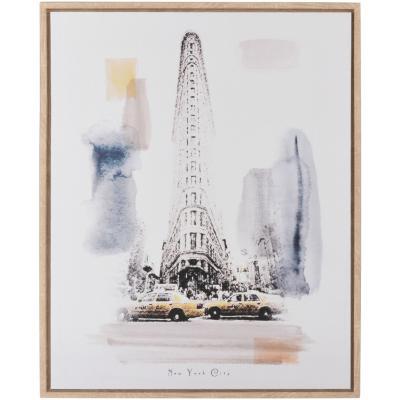 Canvas enmarcado Flat Iron New York 40x50 cm