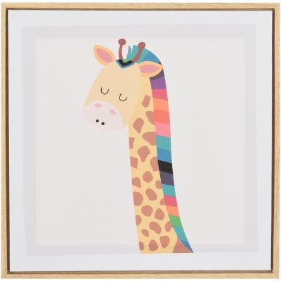 Canvas con marco jirafa 35x35 cm