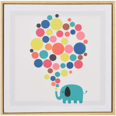 Canvas con marco elefante 35x35 cm