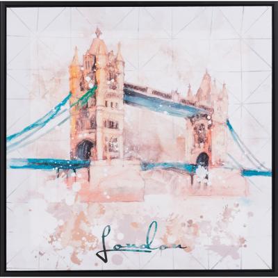 Canvas enmarcado London Bridge 50x50 cm