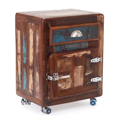 Velador 1 cajón 1 puerta 55x38x70 café