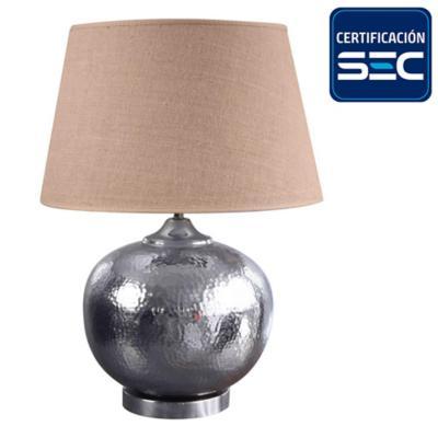 Lámpara mesa Udaipur silver E27 30 W