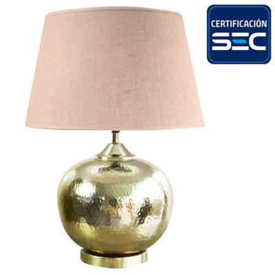 Lámpara mesa Udaipur dorado E27 30 W