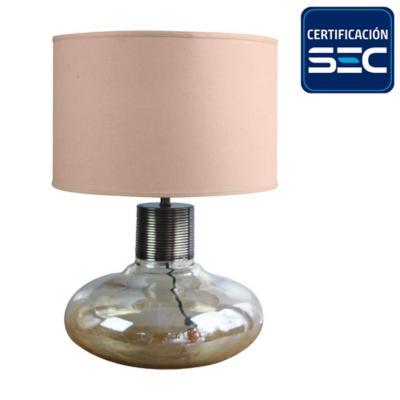 Lámpara mesa Gunka ámbar E27 30 W
