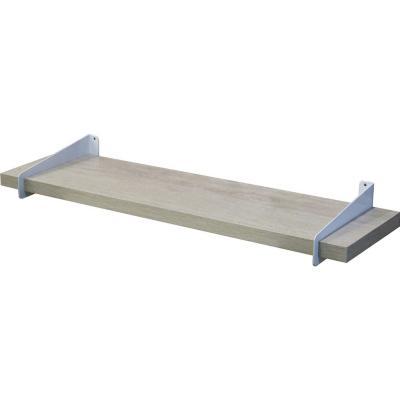 Repisa de madera con soporte 18x7 cm gris