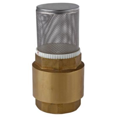 """Válvula pie con filtro 1 1/4"""" HI acero"""