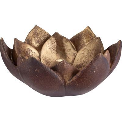 Portavela suculenta oro 5,4 cm
