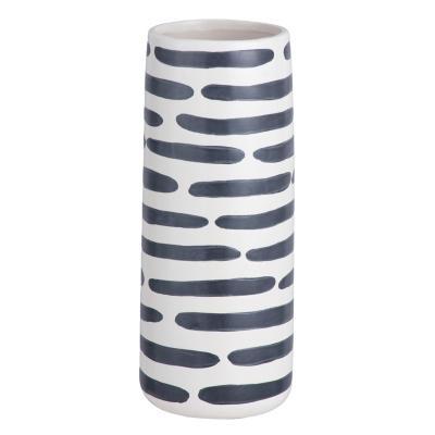 Jarrón cilindro líneas 27 cm
