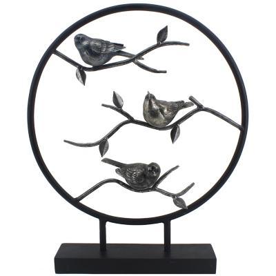 Pájaros en Ramas Círculo en Contorno 52 cm