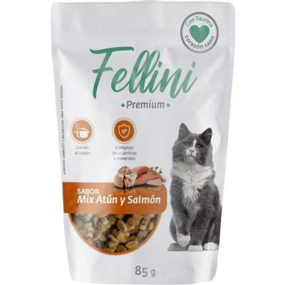 Pouch Mix de Sabor Atun y Salmon Fellini 85 gr